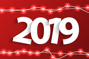 Christmas and New Year 2019 concept