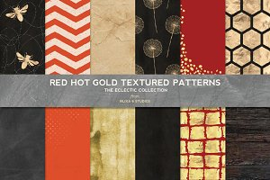Red Hot Gold Textures & Patterns