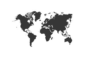 Vector illustration of a world map