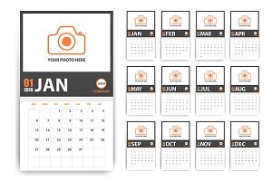 2019 photo style calendar