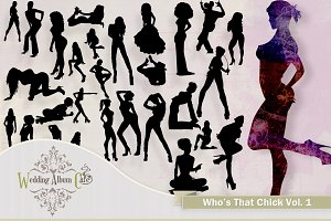 Who's That Chick Woman Silhouettes