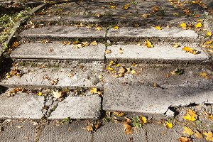 old concrete stairs
