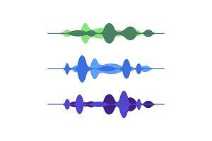 Motion visual sound wave equalizer