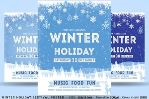 Winter Holiday Festival Poster