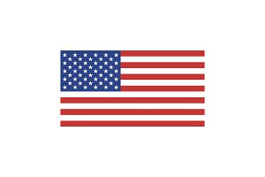 USA flag illustration