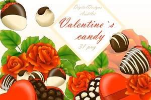 Valentine`s day candy clipart