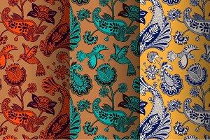 Birds an Paisley patterns