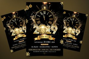 2019 New Year - PSD Flyer Template