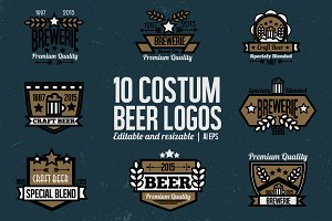 10 Beer Badges and Logos