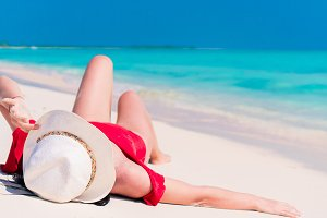 Caucasian girl with hat background t