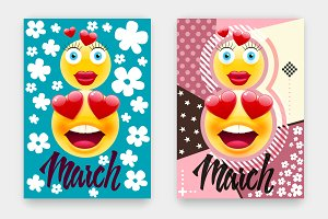 Women's Day Covers with Emojis
