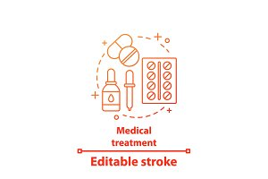 Medical treatment concept icon