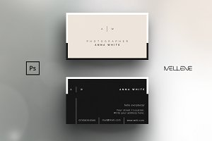 Business card template for Photoshop