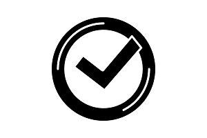 Checkmark glyph icon