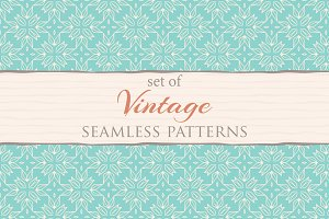 Set of 72 vintage patterns