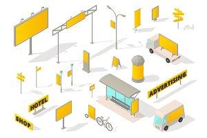 Outdoor advertising media Isometric