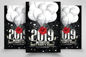 2019 New Year Psd Flyer Templates