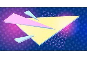 triangle 1980 background retro