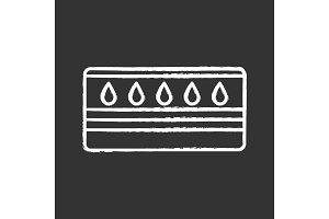 Water mattress chalk icon