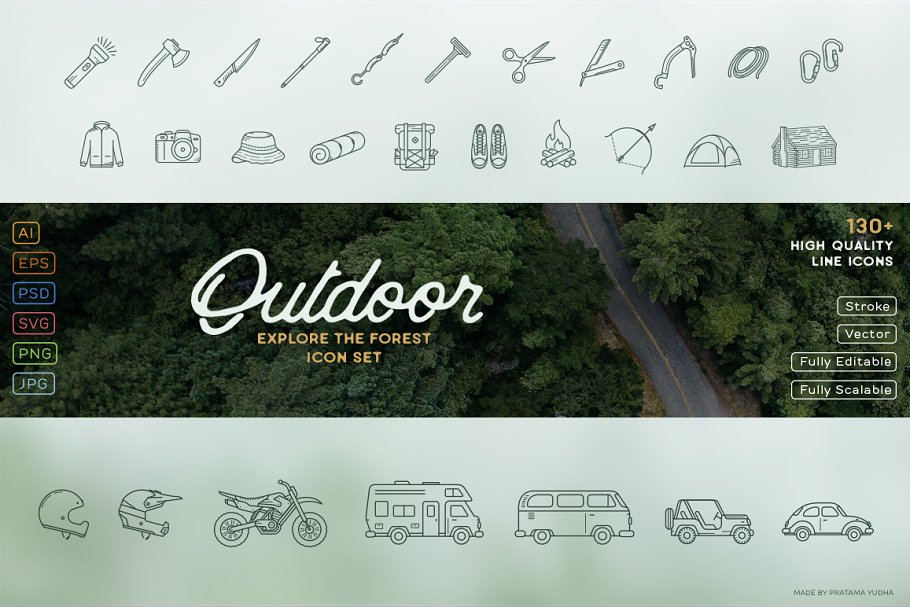 Explore the Forest Icon Set