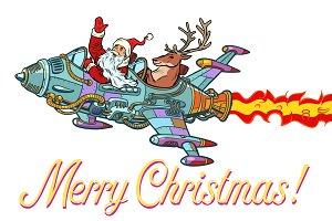 Merry Christmas. Retro Santa Claus