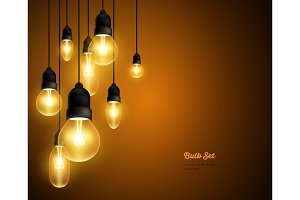 Retro bulbs hanging