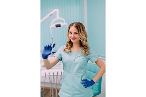 portrait of young woman anesthetist