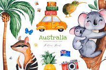 Australia. Watercolor collection.