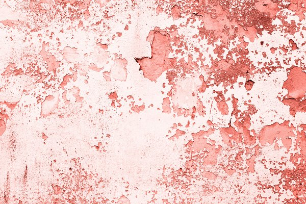Textured wall toned in Living Coral