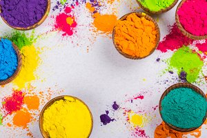 Colorful Indian powder paints