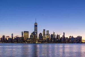 Cityscape of Lower Manhattan, New