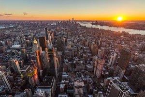 Cityscape of Manhattan, New York at