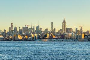 Manhattan Cityscape and Hudson River