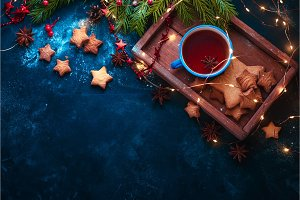 Cookies, tea and fairy lights flat
