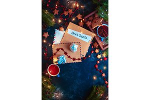 Letters to Santa concept, Christmas