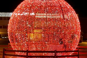 Christmas red ball, decoration