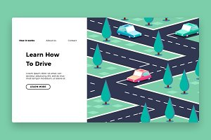 Driving School- Banner& Landing Page
