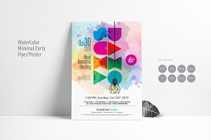 Water-color Minimal Party Poster
