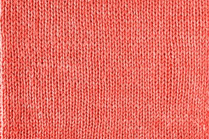 Knitted Living Coral texture jersey