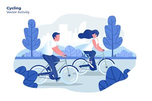 Cycling - Vector Illustration