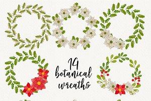 Christmas botanical wreaths