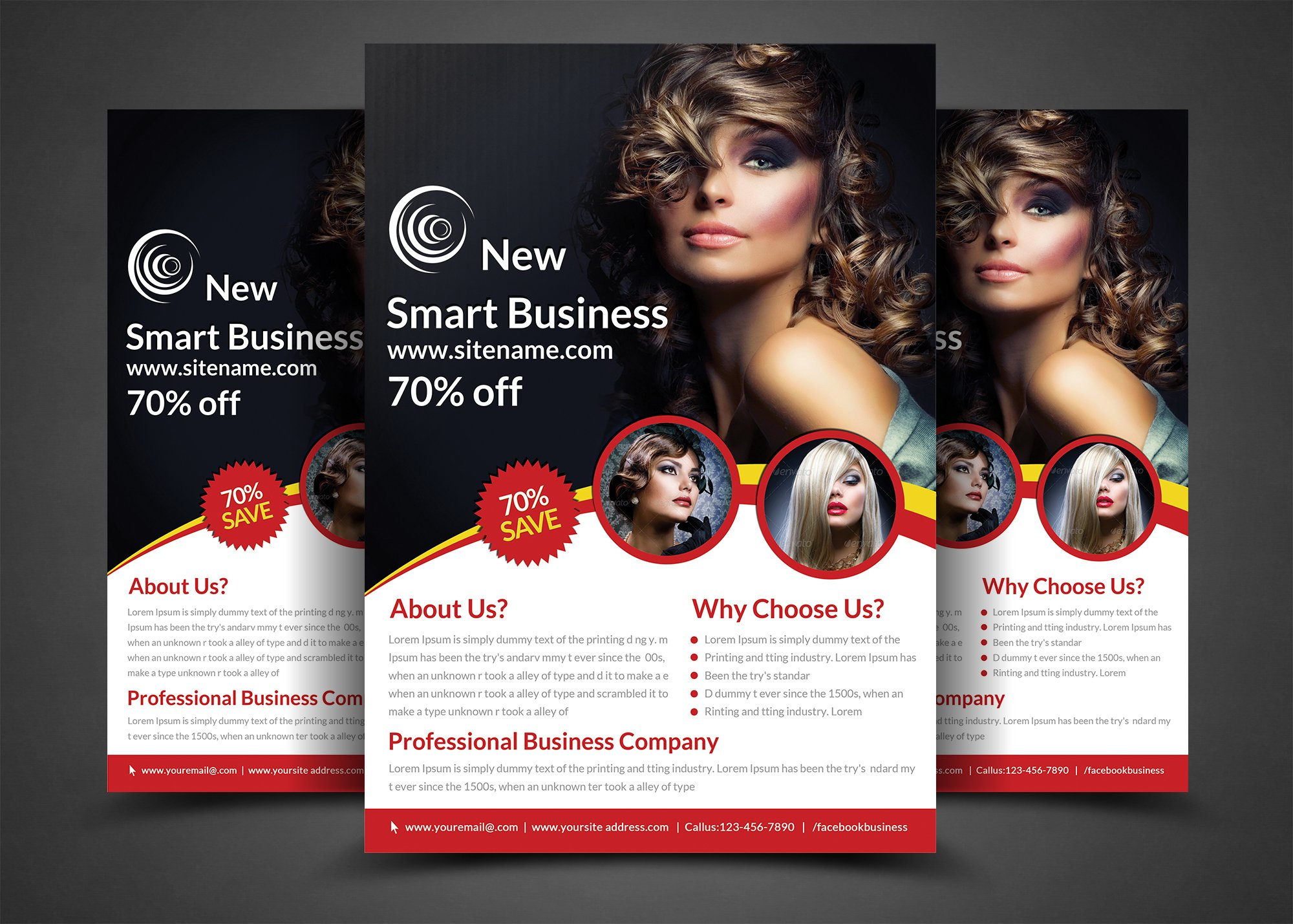 Fashion agency flyer print templates flyer templates for Fashion design agency