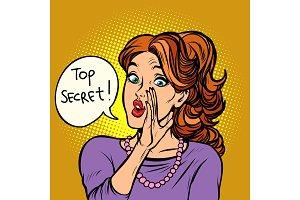 top secret. women gossip rumor