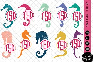 Sea Horse Svg, Monogram Svg