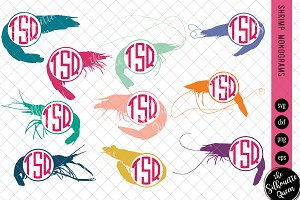 Shrimp Svg, Monogram Svg