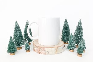Christmas Tree Mug Mockup Photo