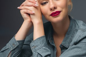Elegant blonde woman