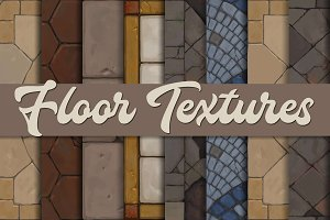 Hand-painted medevial floor textures