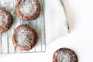 Baking Chocolate Cookie Stock Photo