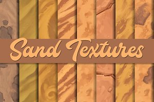 Hand-painted sand textures